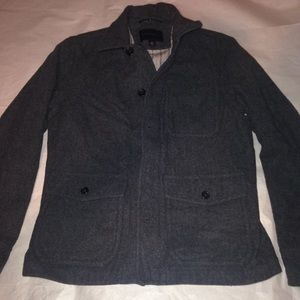 Banana Republic grey wool coat